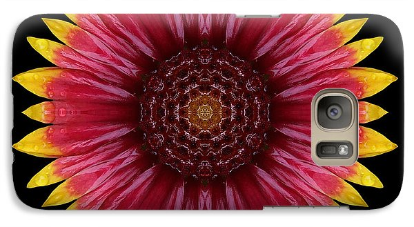 Galaxy Case featuring the photograph Galliardia Arizona Sun Flower Mandala by David J Bookbinder