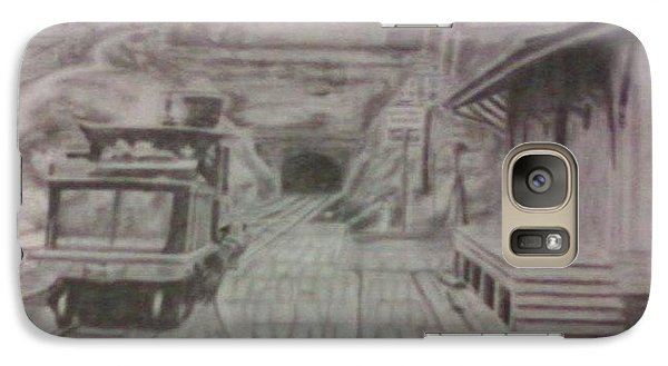 Galaxy Case featuring the drawing Gallitzin Tunnel by Thomasina Durkay