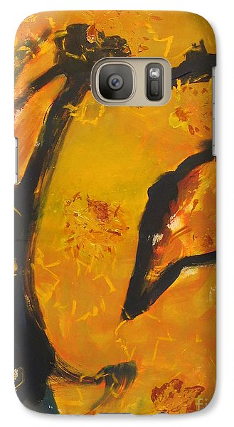 Galaxy Case featuring the painting Gallop  In The Fall by Fereshteh Stoecklein