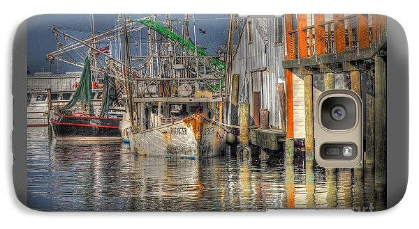 Galaxy Case featuring the photograph Galveston Shrimp Boats by Savannah Gibbs