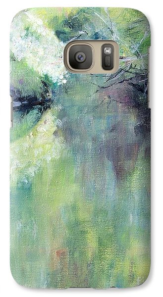 Galaxy Case featuring the painting Gamble Creek by Mary Lynne Powers