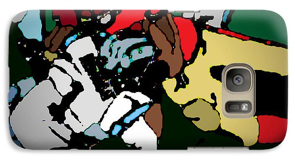 Galaxy Case featuring the painting Game To Remember by Andrew Drozdowicz