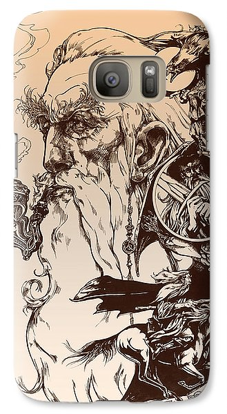 Wizard Galaxy S7 Case - gandalf- Tolkien appreciation by Derrick Higgins