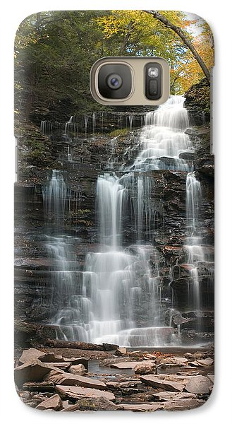 Galaxy Case featuring the photograph Ganoga Decorated With Gold by Gene Walls