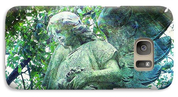 Galaxy Case featuring the digital art Garden Angel - Divine Messenger by Absinthe Art By Michelle LeAnn Scott