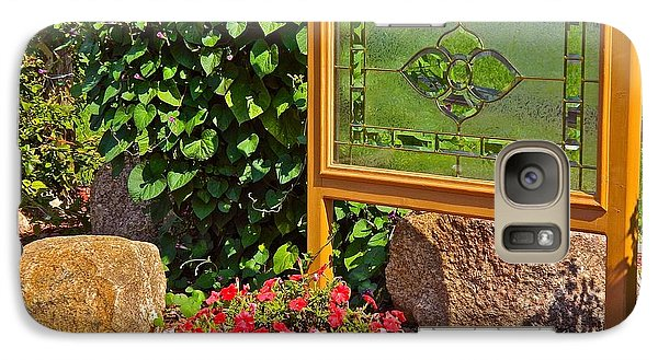 Galaxy Case featuring the photograph Garden Art by Randy Rosenberger