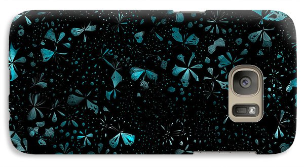 Galaxy Case featuring the digital art Garden At Night by Shabnam Nassir