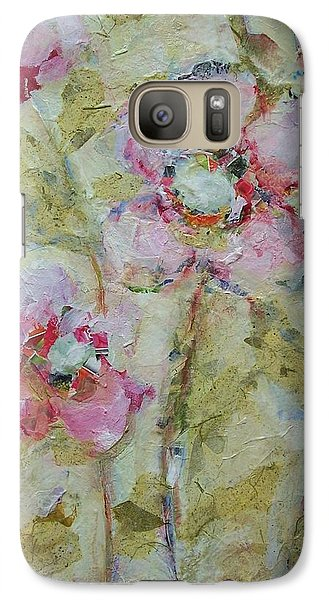 Galaxy Case featuring the painting Garden Bliss by Mary Wolf