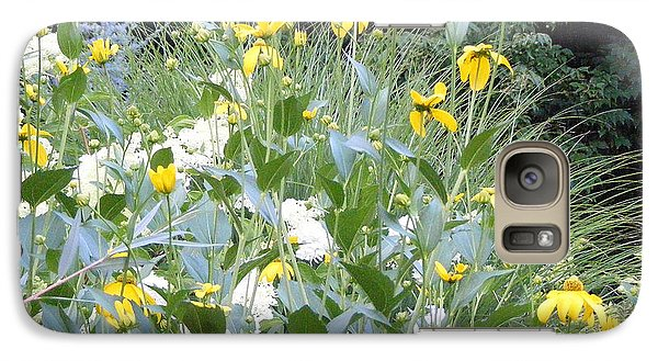 Galaxy Case featuring the photograph Garden Bouquet In Blue And Yellow by Margie Avellino
