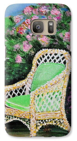 Galaxy Case featuring the painting Garden Chair by Debbie Baker