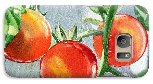 Garden Cherry Tomatoes  Galaxy S7 Case by Irina Sztukowski