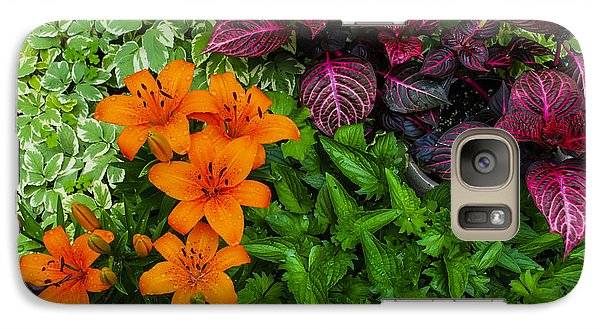 Galaxy Case featuring the photograph Garden Colors by Phil Abrams