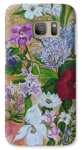Galaxy Case featuring the painting Garden Delight by Eloise Schneider