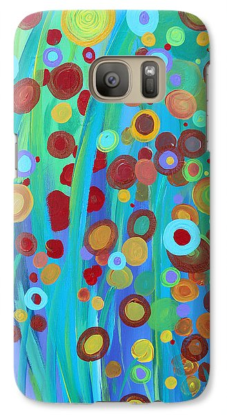 Galaxy Case featuring the painting Garden Dreams by Stacey Zimmerman
