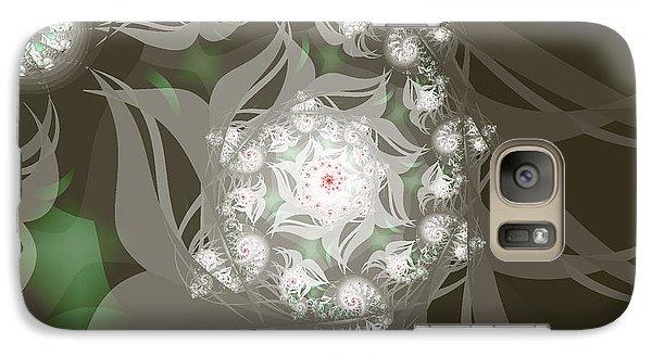 Galaxy Case featuring the digital art Garden Echos by Elizabeth McTaggart