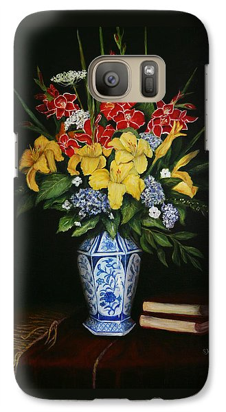 Galaxy Case featuring the painting Garden Flowers  by Sandra Nardone