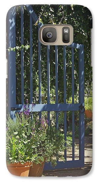 Galaxy Case featuring the photograph Garden Gate by Kathleen Scanlan