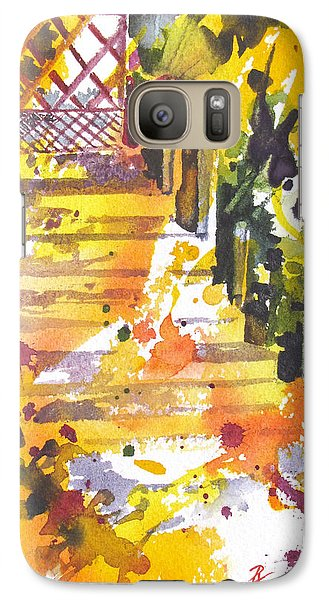 Galaxy Case featuring the painting Garden Gate by Rae Andrews