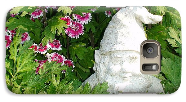 Galaxy Case featuring the photograph Garden Gnome by Charles Kraus