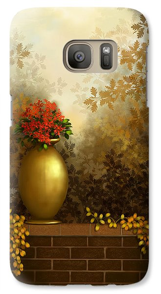 Galaxy Case featuring the painting Garden Golds by Sena Wilson