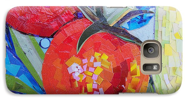 Galaxy Case featuring the mixed media Garden Harvest Collage Detail by Shawna Rowe