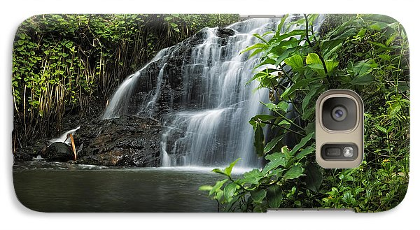 Galaxy Case featuring the photograph Garden Isle Waterfall by Hawaii  Fine Art Photography