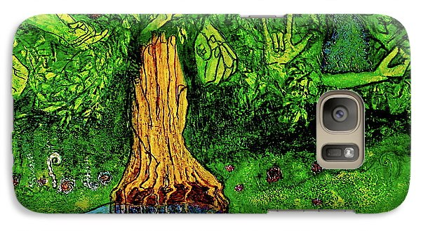 Galaxy Case featuring the painting Garden Of Intent Eden For Pandemonium by D Renee Wilson