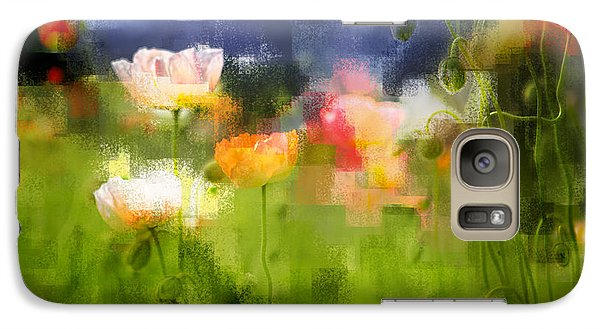 Galaxy Case featuring the photograph Garden Of Poppies by Linde Townsend