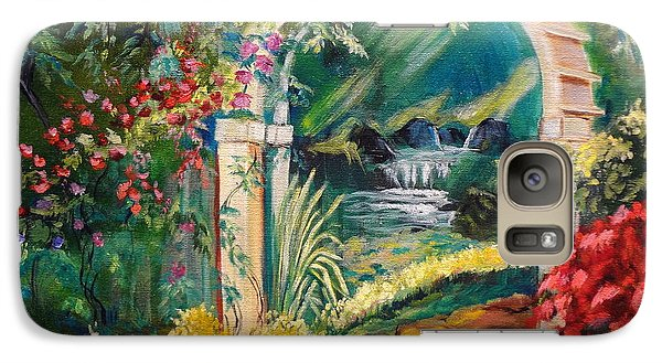Galaxy Case featuring the painting Garden Of Serenity Beyond by Jenny Lee