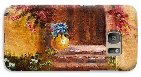 Galaxy Case featuring the painting Garden Of Serenity by Jenny Lee