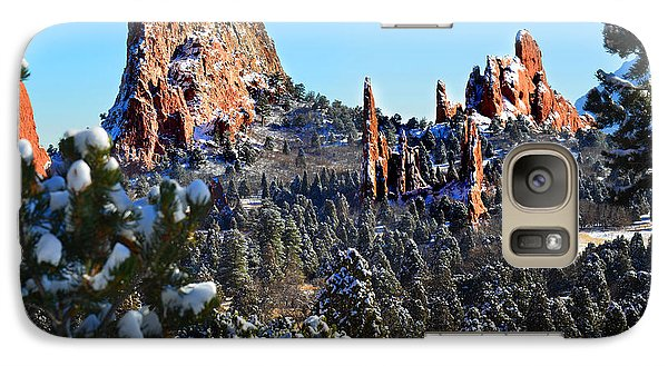 Galaxy Case featuring the photograph Garden Of The Gods After Snow Colorado Landscape by Jon Holiday