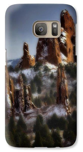 Galaxy Case featuring the photograph Garden Of The Gods by Ellen Heaverlo