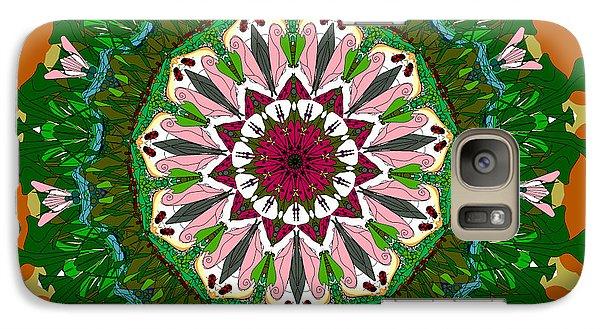 Galaxy Case featuring the digital art Garden Party #2 by Elizabeth McTaggart