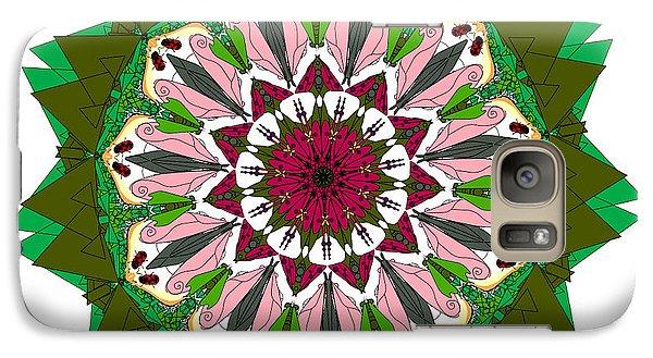 Galaxy Case featuring the digital art Garden Party by Elizabeth McTaggart