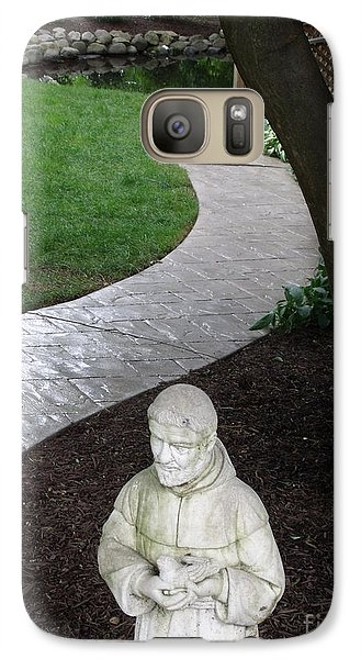 Galaxy Case featuring the photograph Garden Path St. Francis by Lyric Lucas