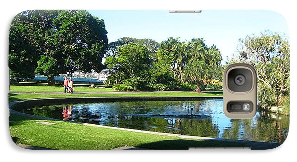 Galaxy Case featuring the photograph Sydney Botanical Garden Lake by Leanne Seymour
