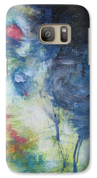 Galaxy Case featuring the painting Garden Rainbow Reflection by John Fish