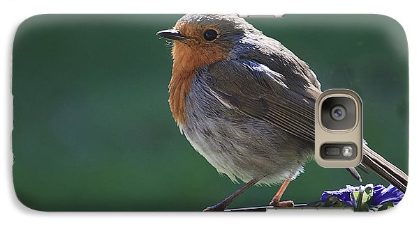 Galaxy Case featuring the photograph Garden Robin by Shirley Mitchell