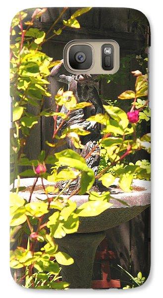 Galaxy Case featuring the photograph Garden Sanctuary by Brooks Garten Hauschild