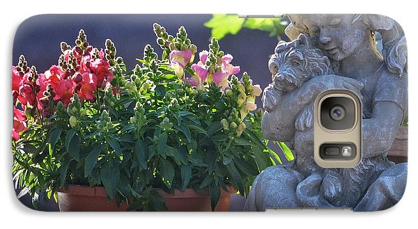 Galaxy Case featuring the photograph Garden Statue by Penni D'Aulerio