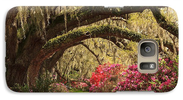 Galaxy Case featuring the photograph Garden View by Patricia Schaefer