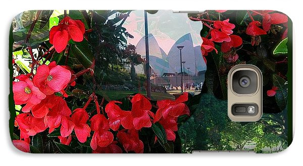 Galaxy Case featuring the photograph Garden Whispers In A Green Frame by Leanne Seymour