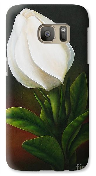 Galaxy Case featuring the painting Gardenia by Paula L