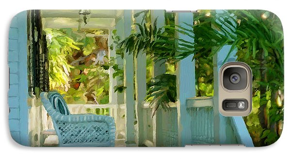 Galaxy Case featuring the painting Gardens Porch In Key West by David  Van Hulst