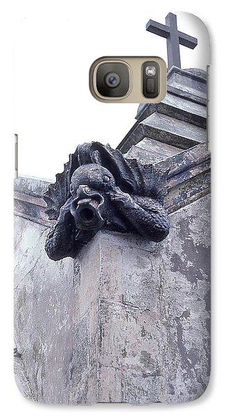 Galaxy Case featuring the photograph Gargoyle On The Italian Vault by Terry Webb Harshman