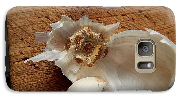 Galaxy Case featuring the digital art Garlic Is Life by Aliceann Carlton