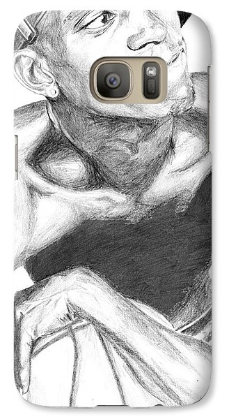 Galaxy Case featuring the drawing Garnett 2 by Tamir Barkan