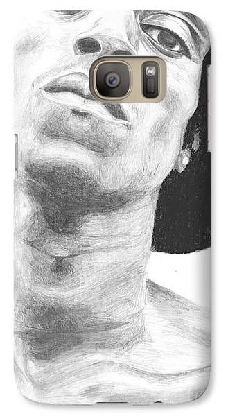 Galaxy Case featuring the drawing Garnett 3 by Tamir Barkan