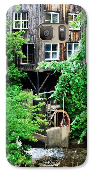 Galaxy Case featuring the photograph Garrettsville Mill Water Wheel by Lila Fisher-Wenzel