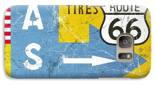 Truck Galaxy S7 Case - Gas Next Exit- Route 66 by Linda Woods